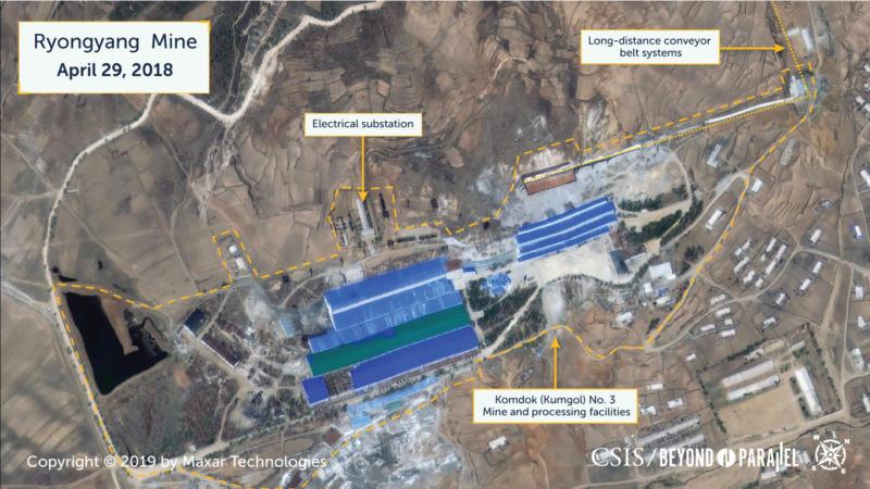 The Komdok (Kumgol) No. 3 Mine, April 29, 2018. (Copyright 2019 by Maxar Technologies)